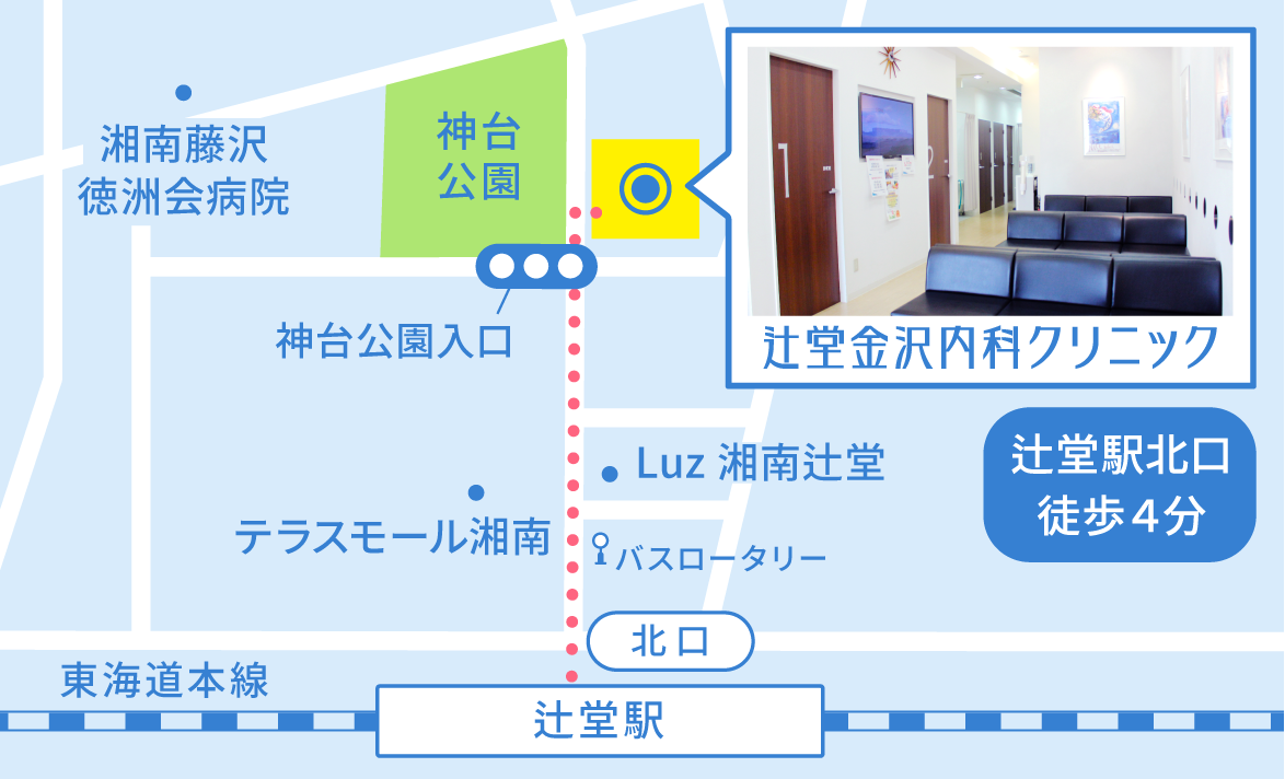 辻堂金沢内科クリニックの地図